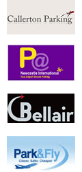 Newcastle Airport Parking logos