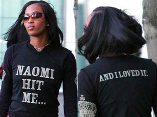 Naomi Campbell behaving badly