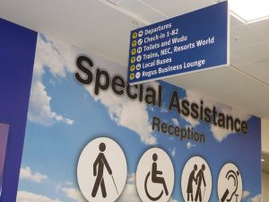 Airport Special Assistance Sign | Book FHR Travel Blog