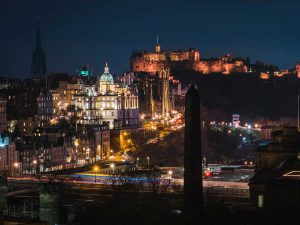 Edinburgh Night Lights | Book FHR Travel Blog